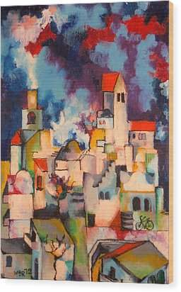 Templars' Colony Jerusalem Wood Print by Moshe BenReuven
