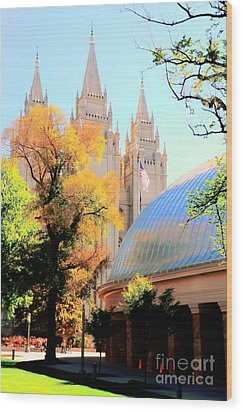 Temple And Tabernacle Wood Print by Kathleen Struckle