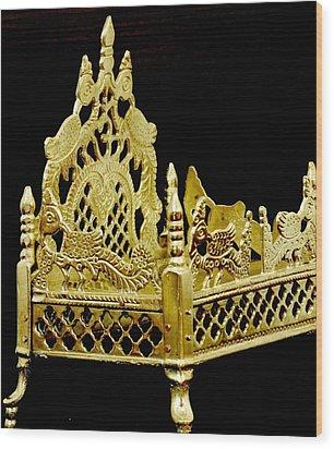 Temple Art - Brass Handicraft Wood Print
