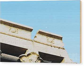 Wood Print featuring the photograph Temple At Luxor by Cassandra Buckley