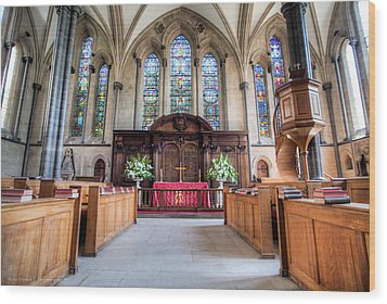 Wood Print featuring the photograph Temple Church by Ross Henton