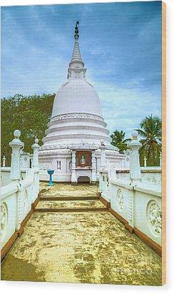 temple complex at the tropical island Sri Lanka Wood Print by Regina Koch