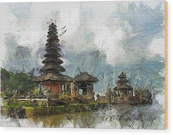 Temple Wood Print by Georgi Dimitrov