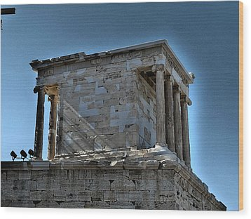 Temple Of Athena Nike Wood Print by James R Martin