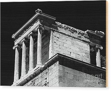 Temple Of Athena Nike Wood Print by John Rizzuto
