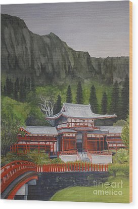 Wood Print featuring the painting Temple Of Equality by Suzette Kallen