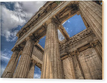 Temple Of Hephaestus Wood Print