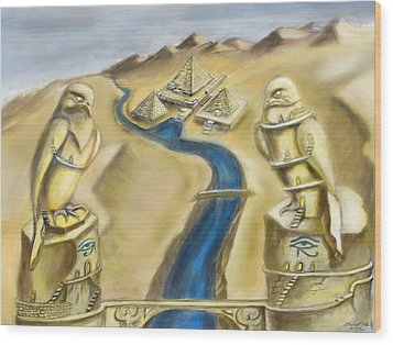 Temple Of Horus Two Out Of Three Wood Print by Michael Cook
