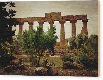 Temple Of Juno Lacinia In Agrigento Wood Print