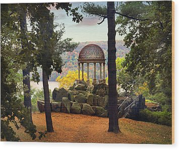 Temple Of Love In Autumn Wood Print