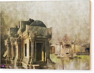 Temple Of Preah Vihear Wood Print by Catf