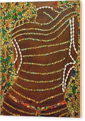 Temple Of The Goddess Eye Vol 2 Wood Print by Apanaki Temitayo M