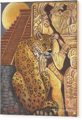 Temple Of The Jaguar Wood Print
