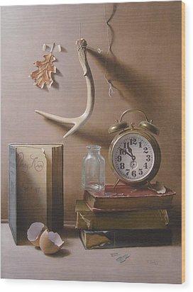 Tempus Fugit Wood Print by Timothy Jones