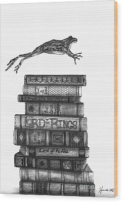 Ten Lords A Leaping Wood Print by J Ferwerda