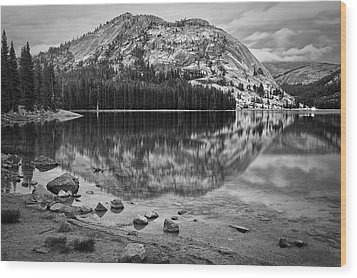 Tenaya Lake In Yosemite In Bw Wood Print
