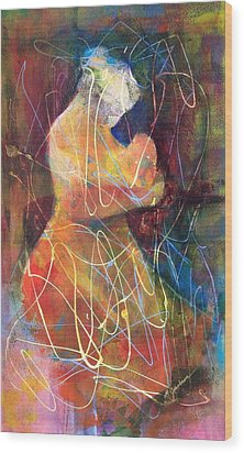 Tender Moment Wood Print by Marilyn Jacobson