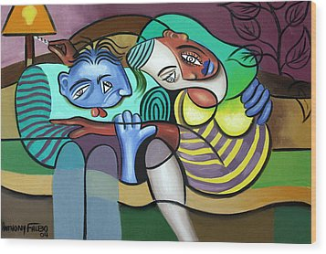 Tender Moments Wood Print by Anthony Falbo