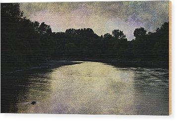 Tender Sundown Wood Print by Judy Hall-Folde