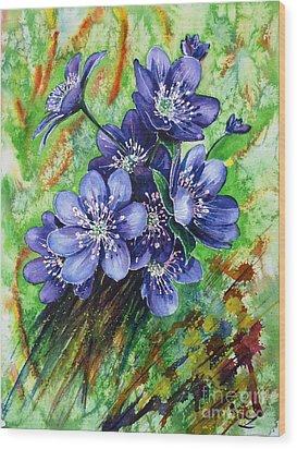 Tenderness Of Spring Wood Print by Zaira Dzhaubaeva