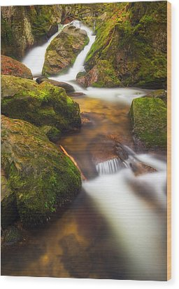 Wood Print featuring the photograph Tendon's Waterfall by Maciej Markiewicz
