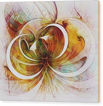 Tendrils 14 Wood Print by Amanda Moore