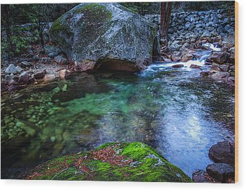 Teneya Creek Yosemite National Park Wood Print by Scott McGuire