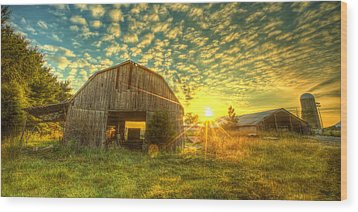 Tennesee Sunrise Wood Print by  Caleb McGinn