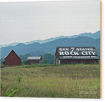 Tennessee Barn Wood Print by Roger Potts