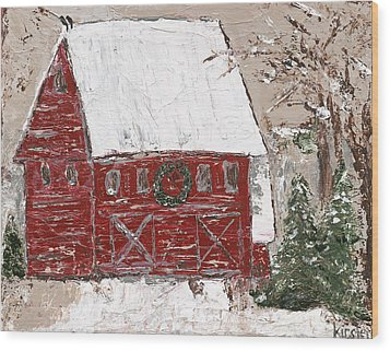 Tennessee Christmas Wood Print by Kirsten Reed
