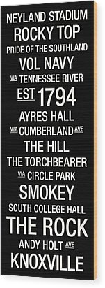 Tennessee College Town Wall Art Wood Print by Replay Photos