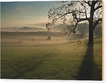 Tennessee Landscape Wood Print by Melinda Fawver