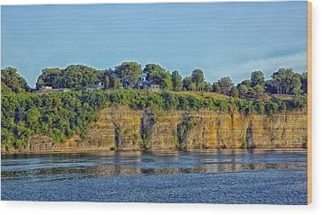 Tennessee River Cliffs Wood Print by Mountain Dreams