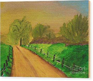 Tennessee Road Wood Print by Harold Greer