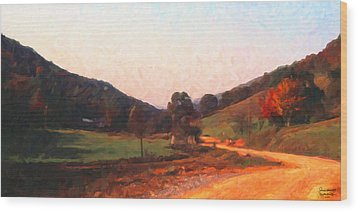 Tennessee Road Wood Print