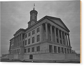 Tennessee State Capitol Building Wood Print by Steven Richman