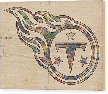 Tennessee Titans Poster Art Wood Print by Florian Rodarte