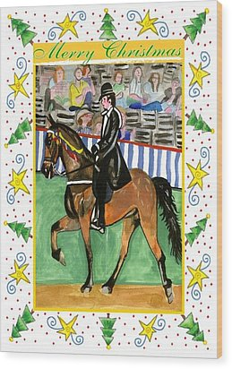 Tennessee Walking Horse Blank Christmas Card Wood Print by Olde Time  Mercantile