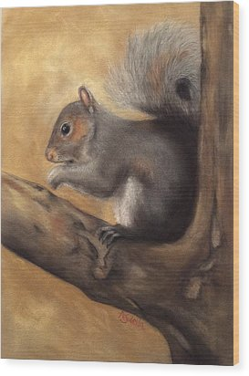 Tennessee Wildlife - Gray Squirrels Wood Print
