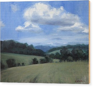 Tennessee's Rolling Hills And Clouds Wood Print by Erin Rickelton