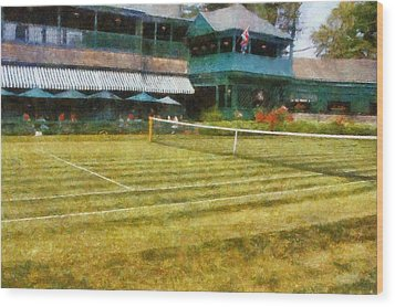 Tennis Hall Of Fame - Newport Rhode Island Wood Print by Michelle Calkins