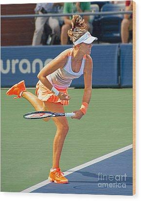 Tennis Star Laura Robson Wood Print by Harold Bonacquist