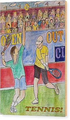 Tennis Strokes Wood Print by Monica Engeler