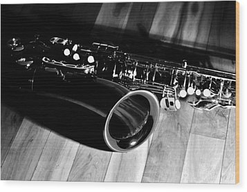 Tenor Sax Wood Print by Benjamin Yeager