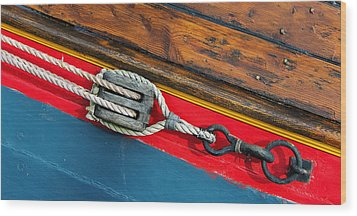 Tension On The Sailing Vessel Wood Print