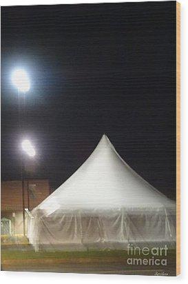 Tent Wood Print