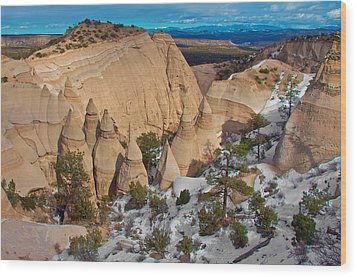 Wood Print featuring the photograph Tent Rocks National Monument by Britt Runyon