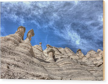 Tent Rocks No. 1 Wood Print by Dave Garner