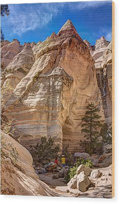 Tent Rocks No. 2 Wood Print by Dave Garner