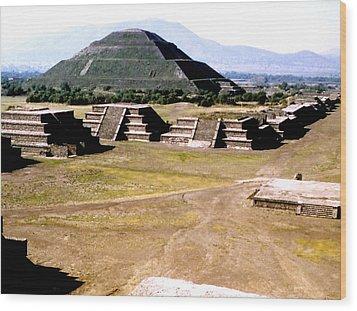 Teotihuacan - Pyramid Of The Sun Wood Print